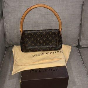 Authentic Louis Vuitton monogram mini looping bag